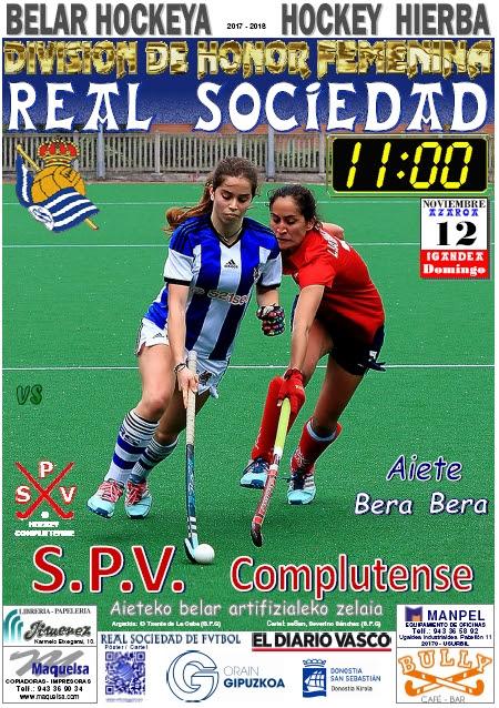 Cartel hockey 2017-11-12 Real Sociedad - S.P.V. Complutense