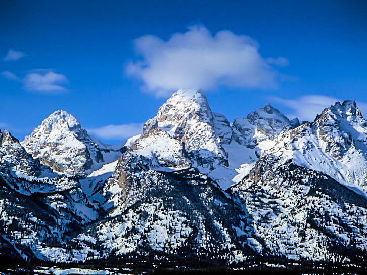 Snow covered Grand Tetons on their birthday