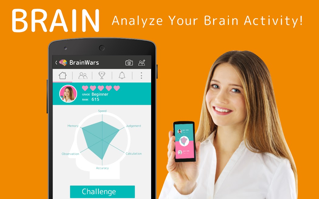 Brain Wars Android Brain Training Application