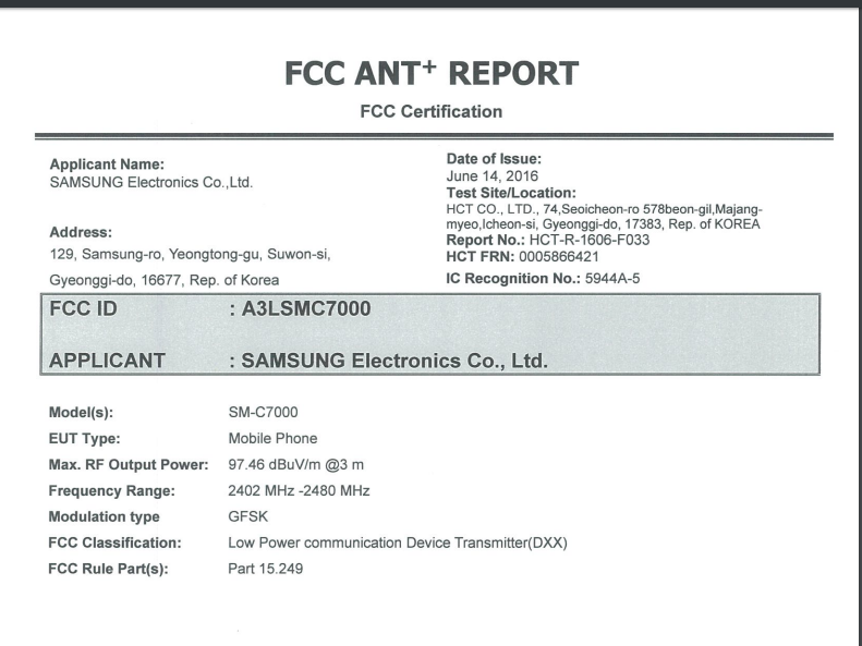 Samsung Galaxy C5 and C7 gets certified FCC