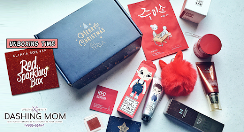 Unboxing of my first Althea Box! (Althea Box #39 : Red Sparkling Box | Holiday Edition)