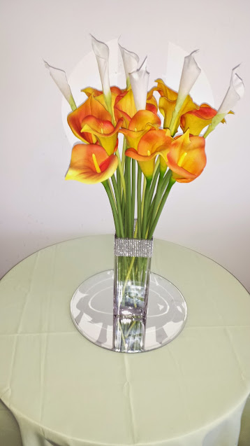 Calla Lilies centerepiece for your next event or wedding