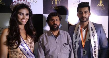 Blogger Vinod Viplav with Shefali Sood, Miss Diva Supranational 2019 & Varun Verma,Mr India Supranational 2019