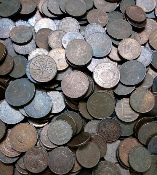Dealer Lo t of 50 Euro Cent coins - 1 Cent, 2 Cents and 5 Cents, Belgium, Germany, France, Italy, Spain, Ireland...