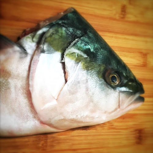 amber skipjack, baked, chinese, fish head, recipe, salt, yellowtail, 五條鰤, 鹽烤魚頭, 鹽焗魚頭,