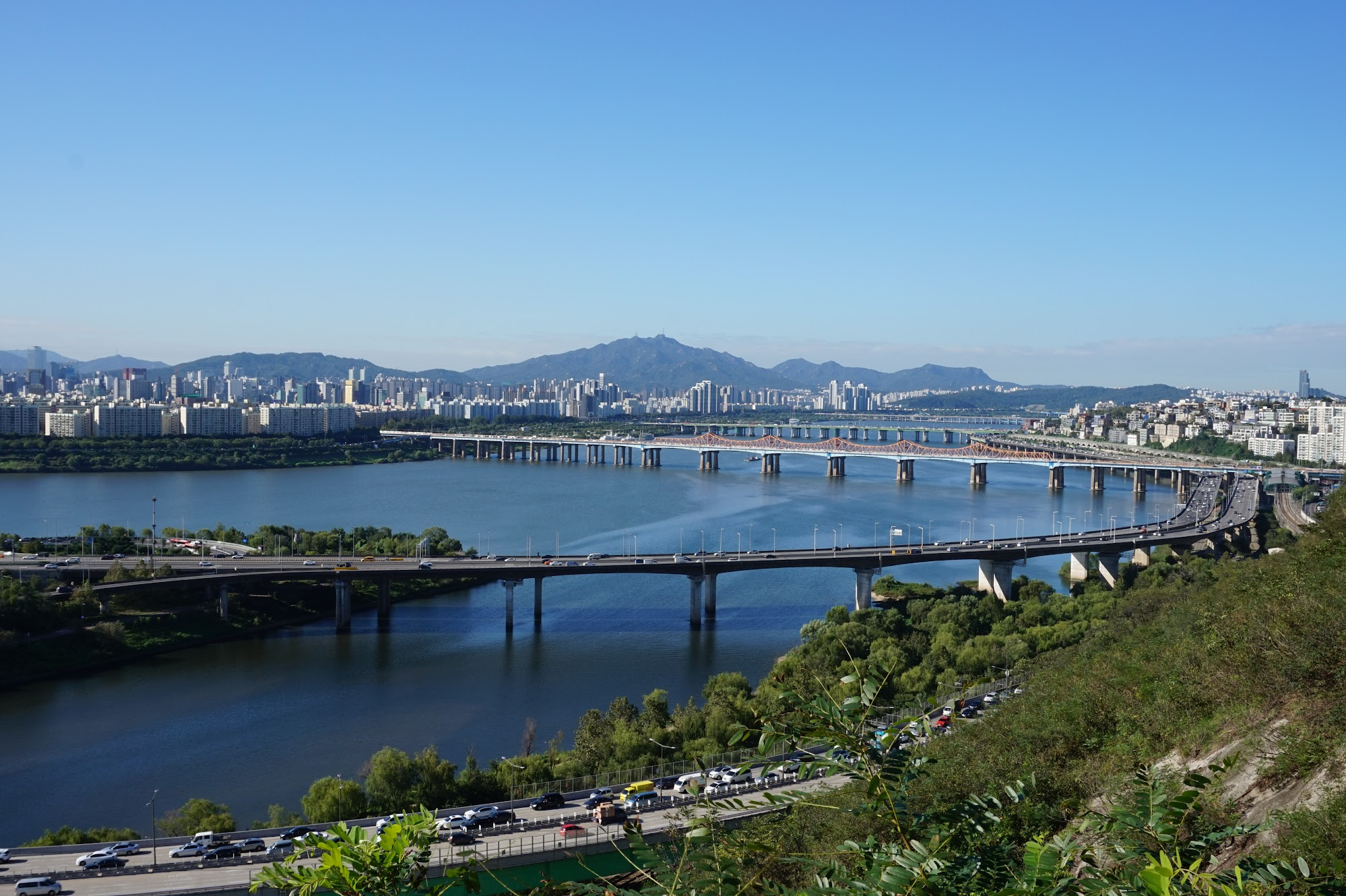 Seoul Eungbong Mountain Park view skyline South Korea travel trip solo female