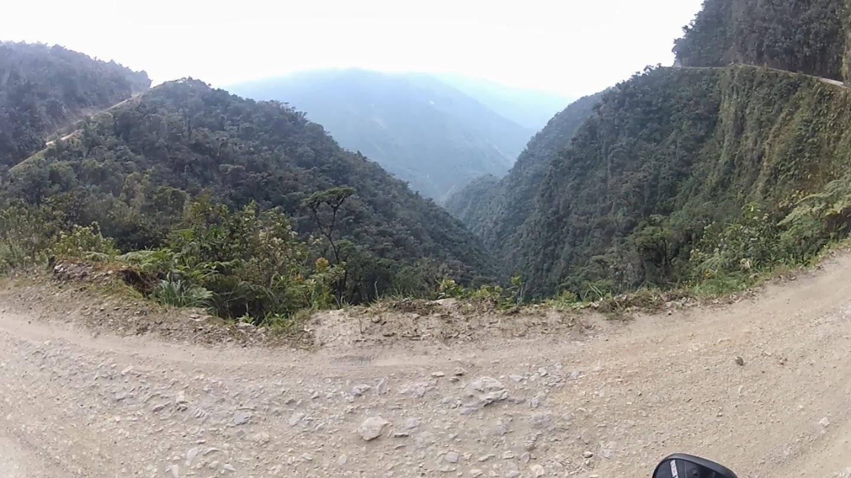 Bela paisagem na curva.