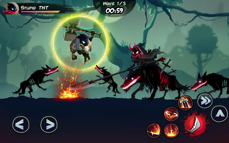 Playstore Screenshot of Shadow Stickman: Fight for Justice