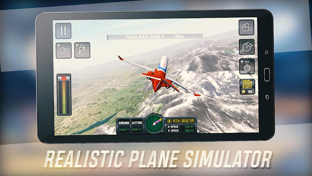 Download Flight Sim 2018 Mod Money Android APK+OBB
