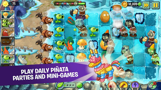 Plants vs Zombies 2 V7.5.1 Mod Apk + OBB For Android with Unlimited Coins and Gems and Suns