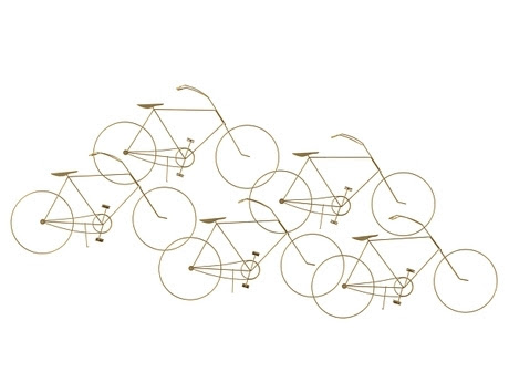 [3Dsmax] 3D model free - Bicycles Wall Sculpture