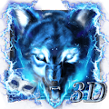3D Blue fire Ice wolf launcher theme Download Apk