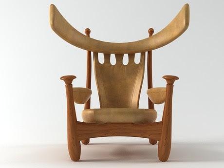 [3Dsmax] 3D model free - Aspas_armchair_1962