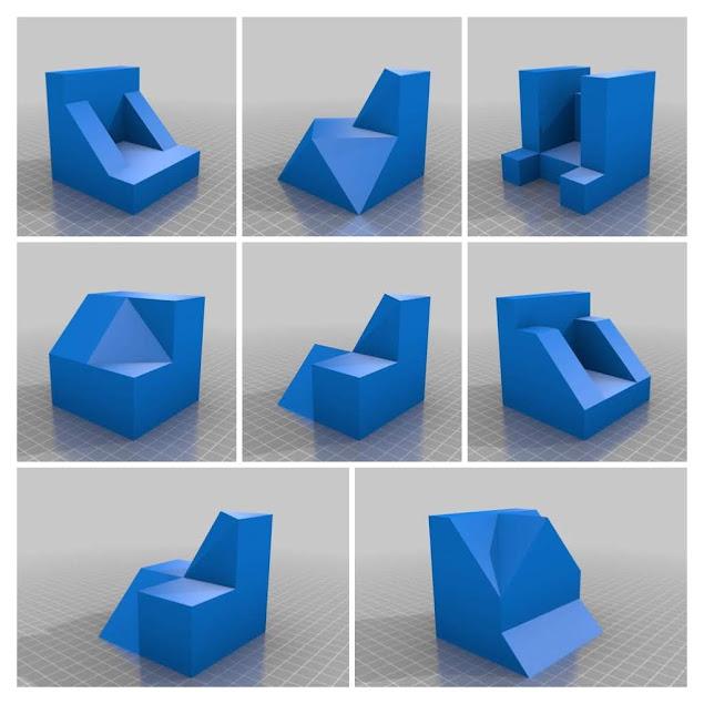 Modelos 3D para la obtención de las vistas