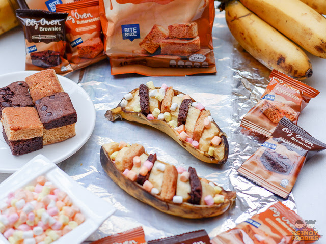 Banana Boat Smores with Big Oven Brownies and Butterscotch