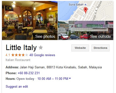 Things To Do In Kota Kinabalu - Dine In At Little Italy