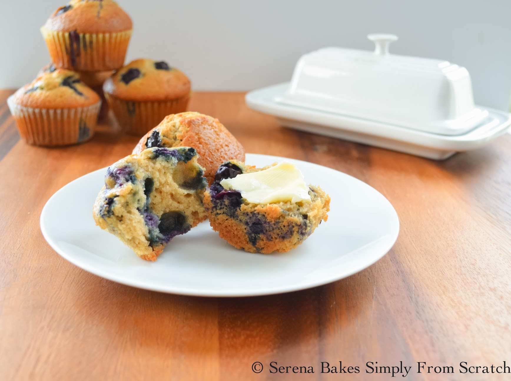 Blueberry Muffins with Butter