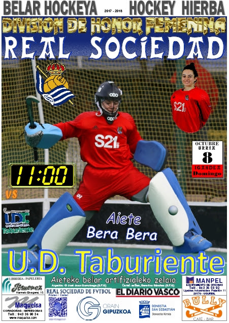 Cartel hockey 2017-10-08 Real Sociedad - U. D. Taburiente