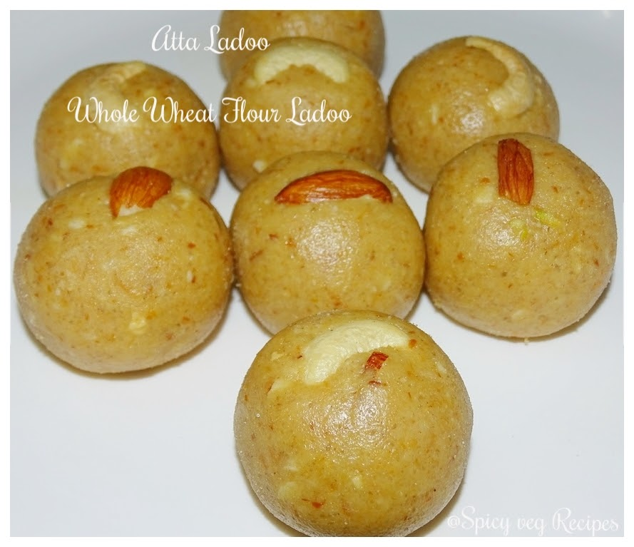 Whole wheat flour ball/ Atta Ladoo is a most popular Indian sweet, especially during winters. Wheat flour Ladoo is a taste and delicious tea time snack.  atta, ladoo, fusion, Desserts |Sweets | Mithai Recipes, Breakfast&Snacks, atta, ladoo,