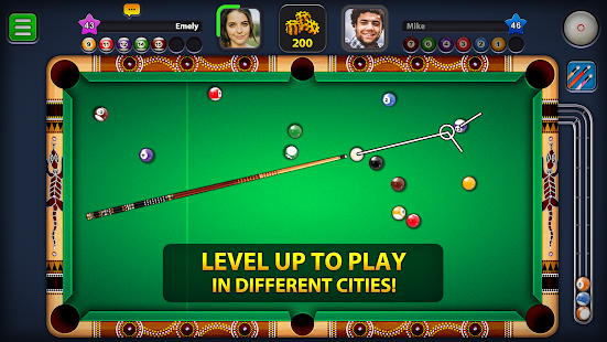8 Ball Pool Mod APK Extended Stick Guideline For Android Gameplay Screenshot 3
