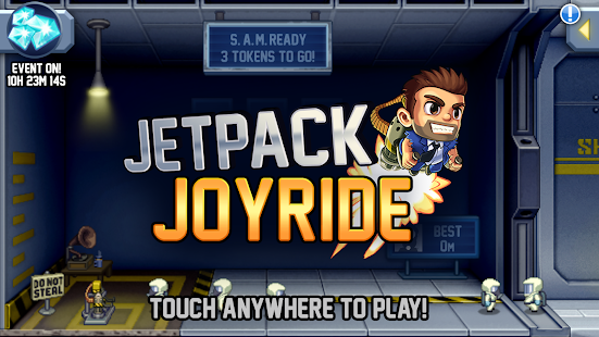 Jetpack Joyride MOD APK Unlimited Gold for Android Gameplay Screenshot