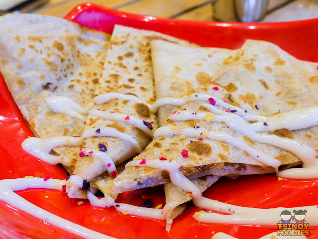 beef and cheese quesadillas