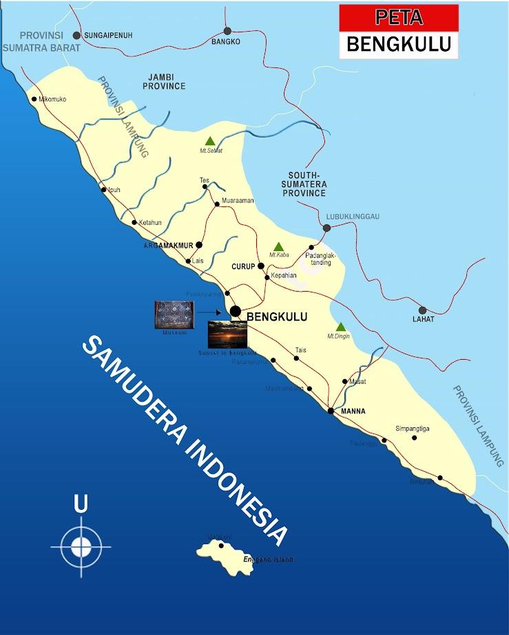 Peta Bengkulu lengkap