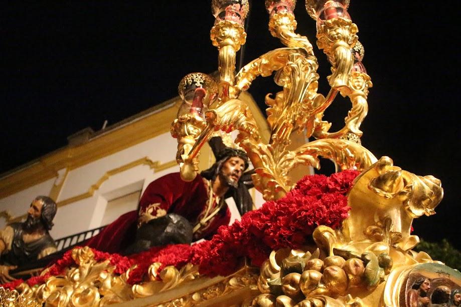 El Señor del Santo de Valverde en procesión en la Madrugá