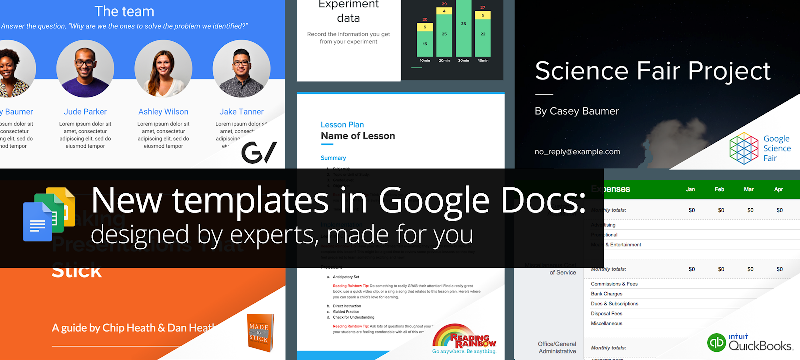 google docs new templates designed by experts