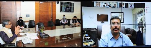 मुख्य सचिव की अध्यक्षता में कोविड-19 सम्बन्धी समीक्षा बैठक