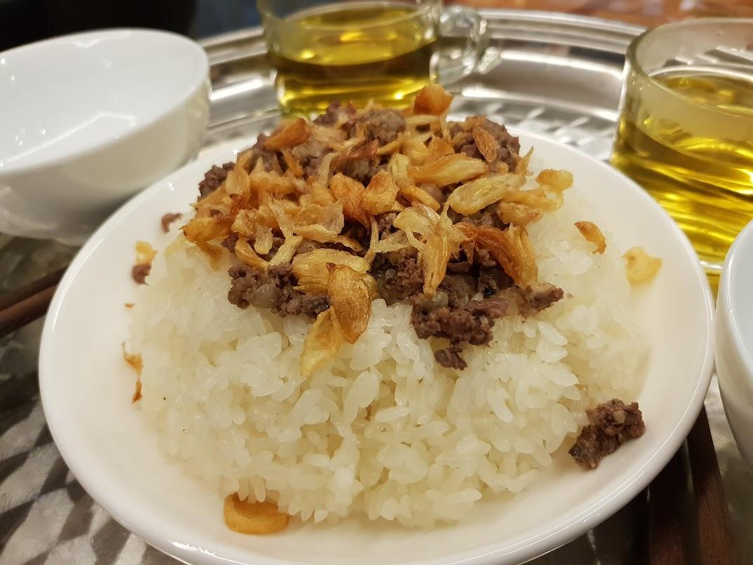 Vietnamese pigeon sticky rice