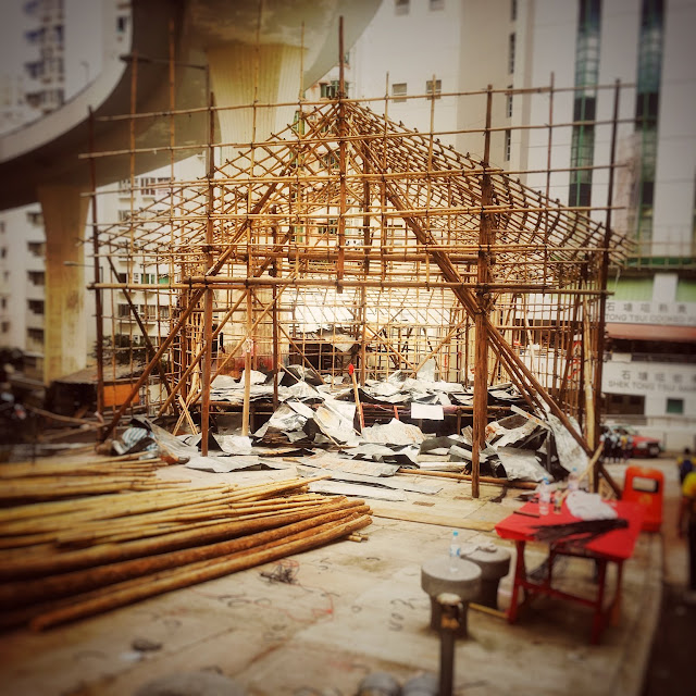 Temporary Bamboo Theater,  竹棚, 舞台