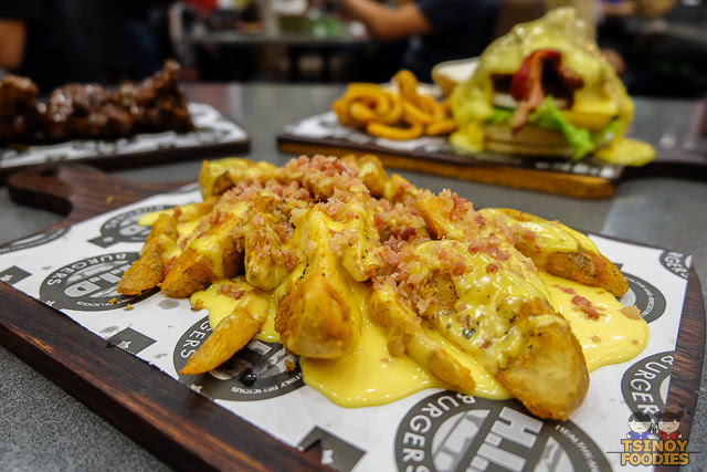 cheesy bacon wedge fries