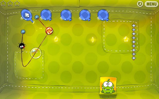 Cut the Rope,أفضل الألعاب التي يمكن لعبها عبر متصفح كروم بدون انترنت,