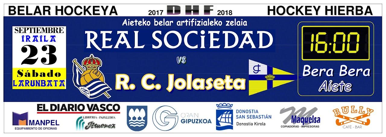Partido Real Sociedad - R.C Jolaseta