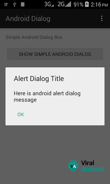 Simple Android Alert Dialog