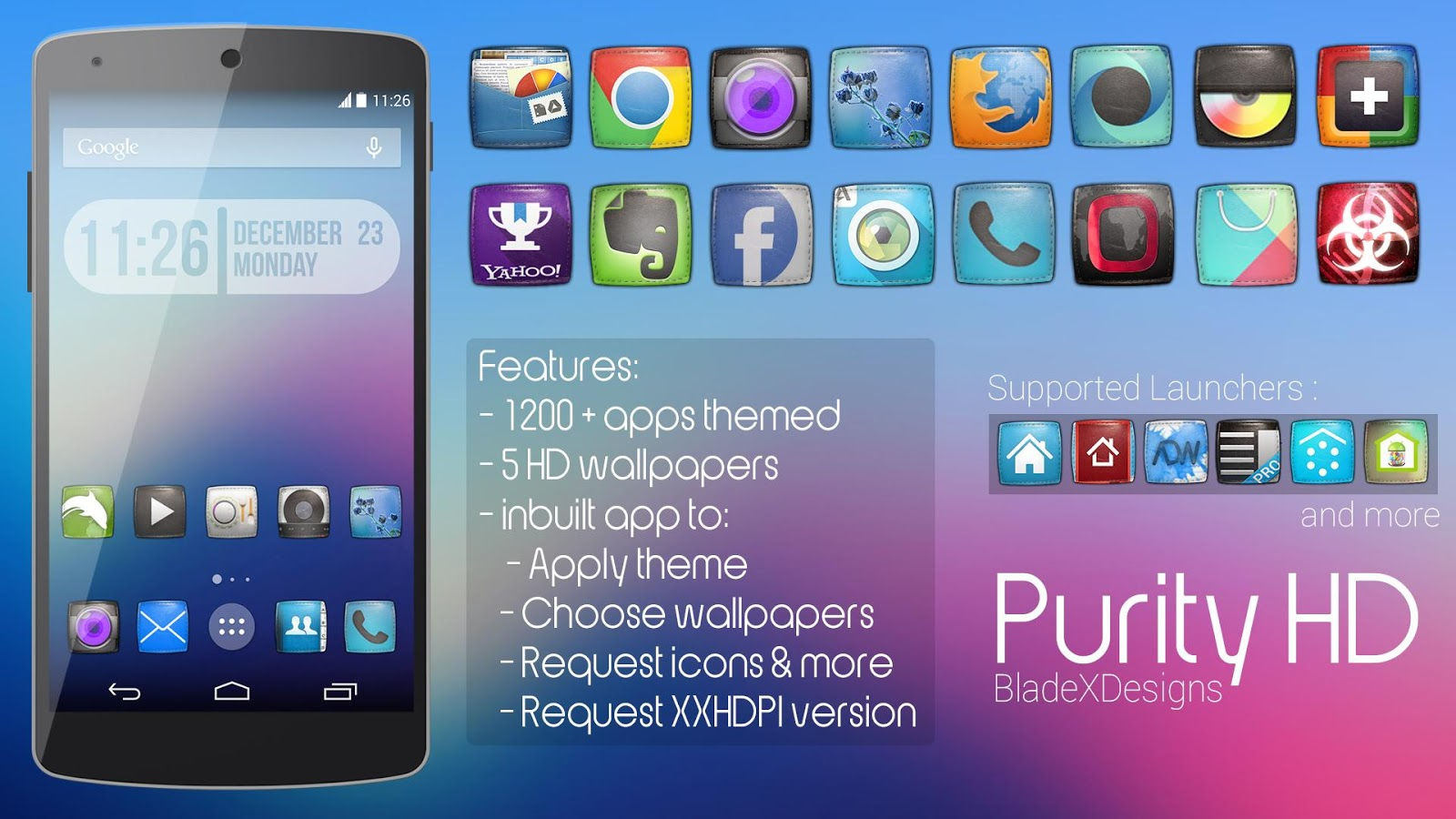 Purity(APEX NOVA KITKAT THEME) v1.0.1 APK Personalization Apps Free Download