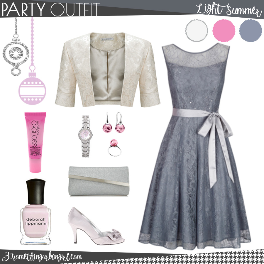 Pretty holiday party outfit for Light Summer seasonal color women