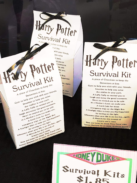 Print out this Harry Potter survival kit for your next Harry Potter party and enjoy a sweet treat to help you get through a year at Hogwarts. #harrypotterpartyprint #harrypottersurvivalkit #diypartymomblog