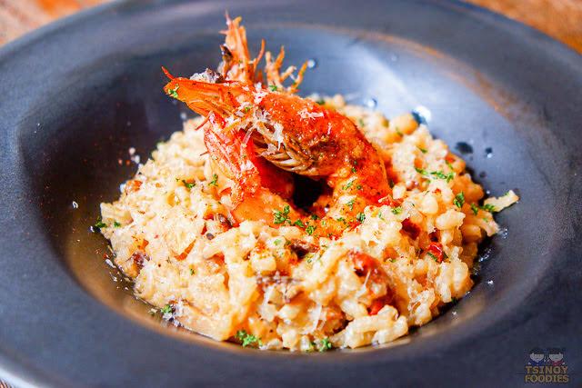 tiger prawn risotto