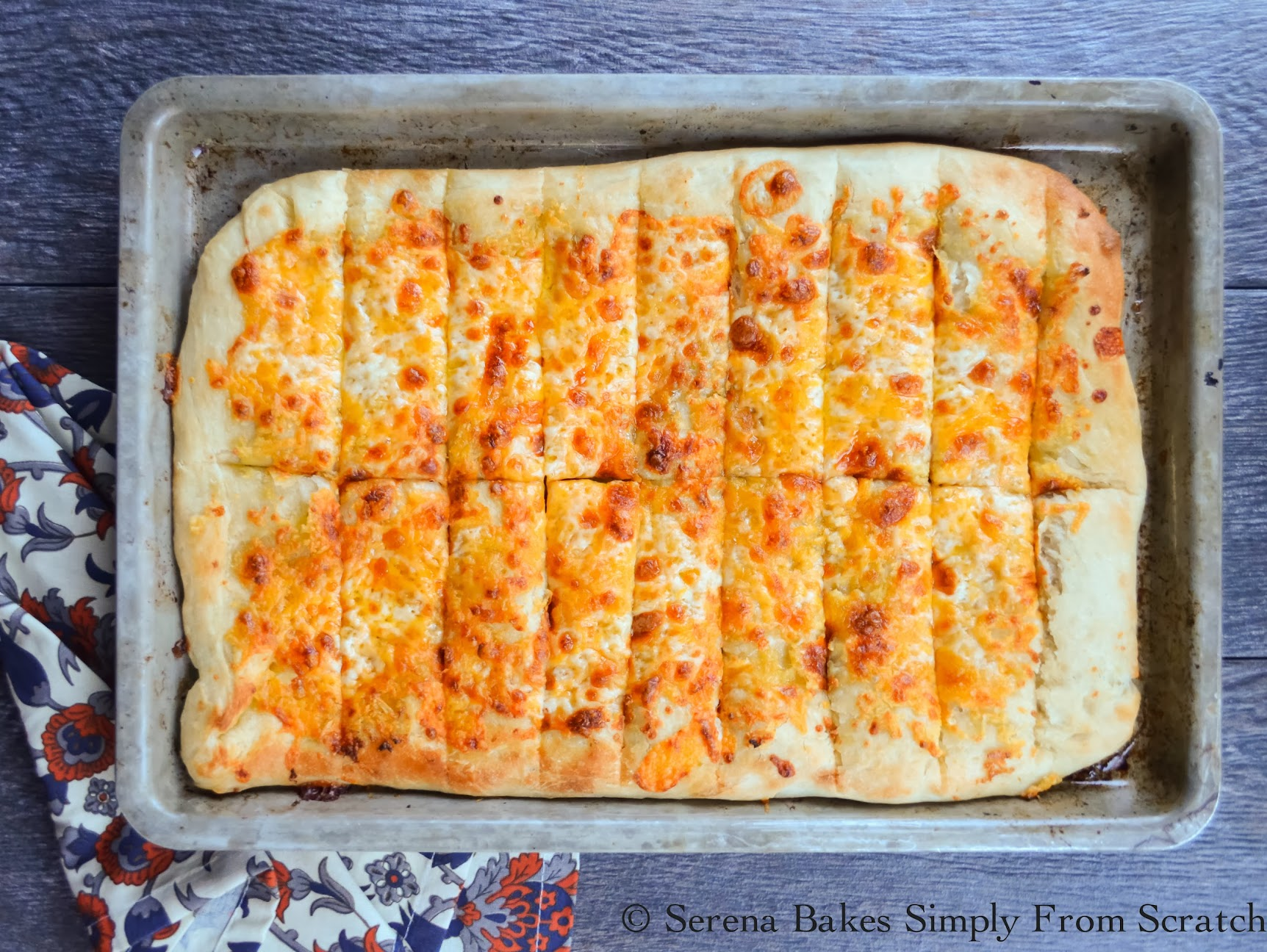 Pizzeria Style Cheesy Breadsticks. These are so good! | Serena Bakes Simply From Scratch