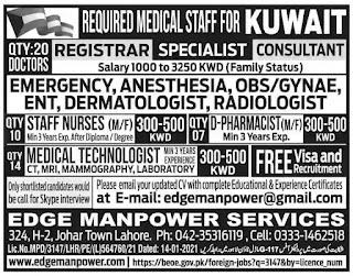 Doctor Jobs in KUWAIT 2021