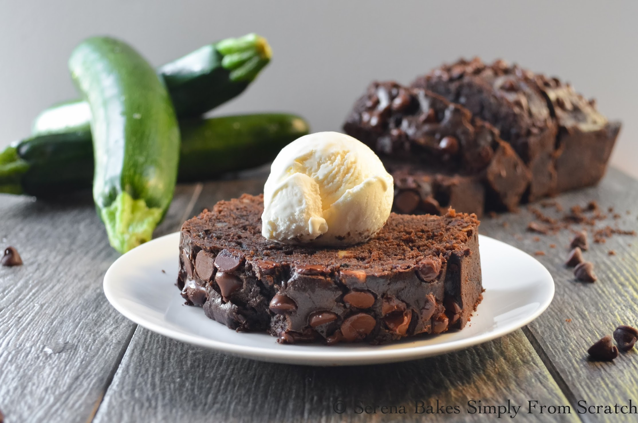 Double Chocolate Zucchini Bread. Perfect for breakfast, brunch, a snack or dessert! Take a loaf to the neighbors they'll love it!
