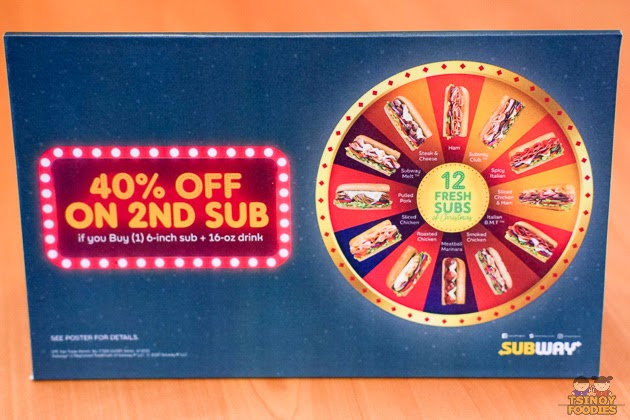 subway 40% off promo