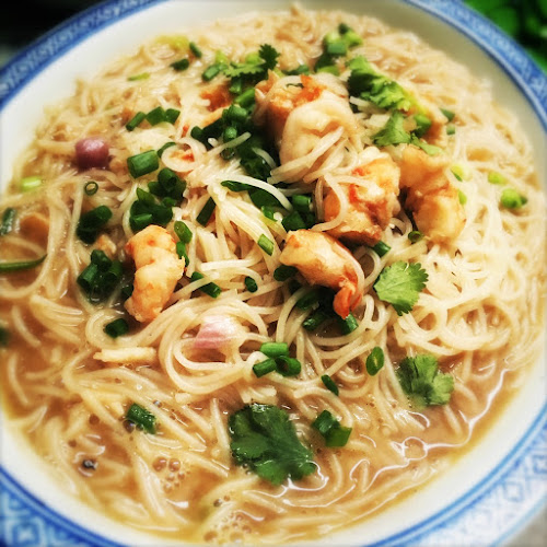 Macanese, Shrimp, Vermicelli, Soup, recipe,  澳門, 蝦湯, 米粉, macau