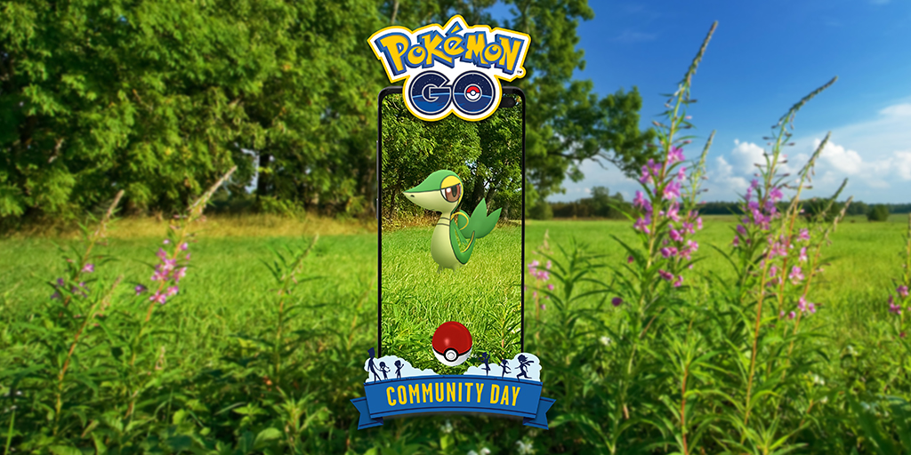 Community Day Pokémon GO - April 2021 - Snivy [image by pokemongolive.com]