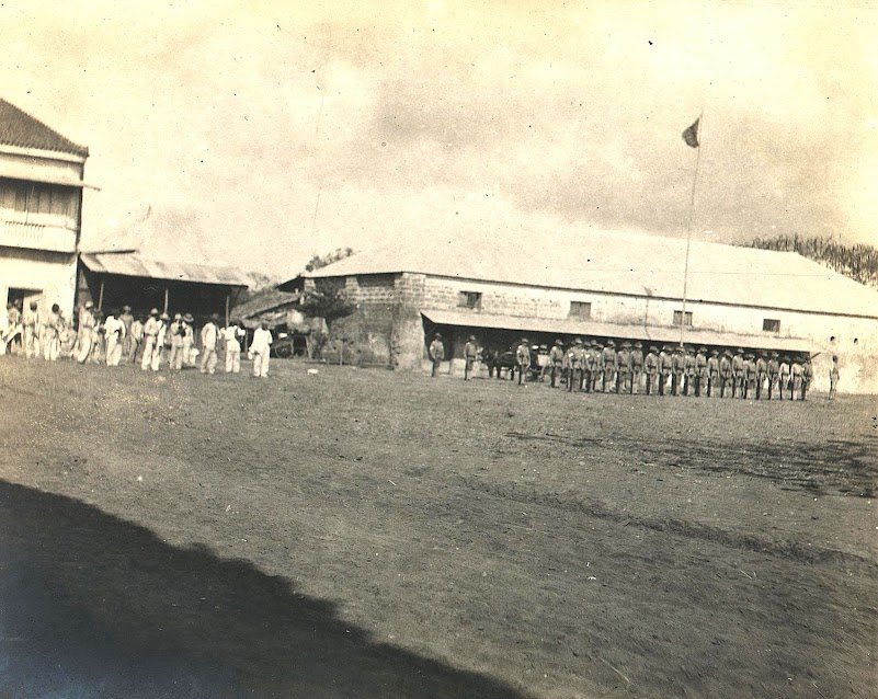 A military quartel or barracks in Tanauan during the American era.  Image source:  University of Michigan Digital Collections.