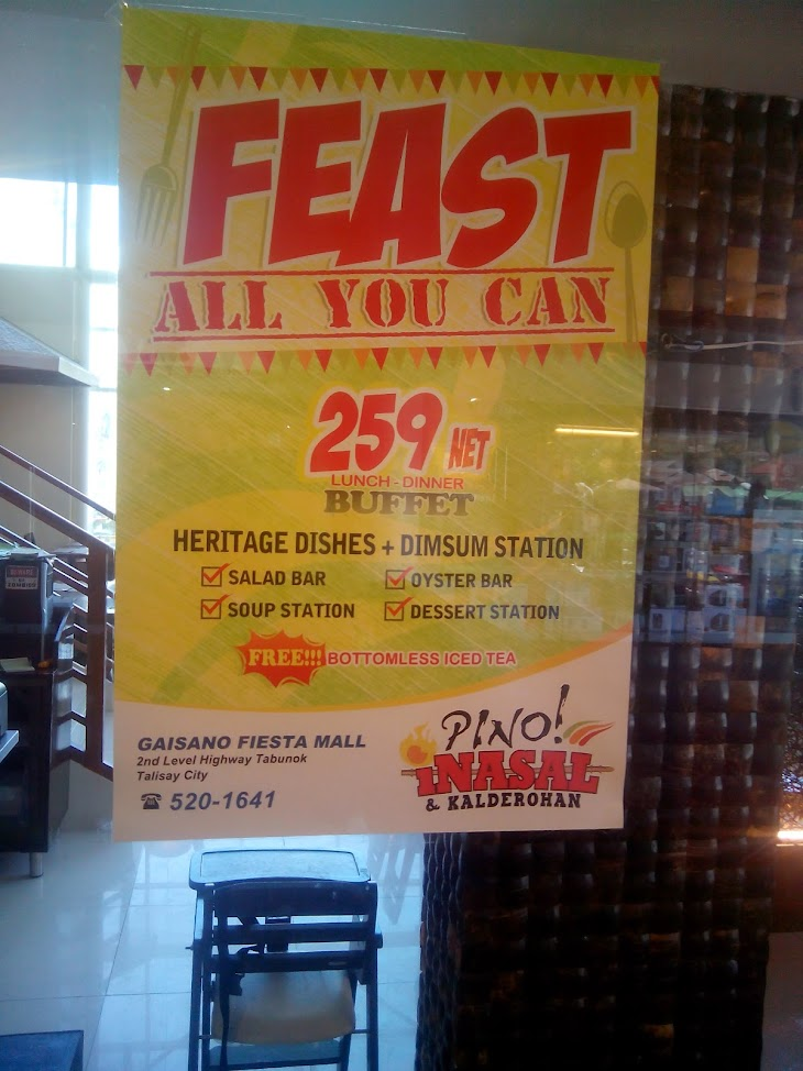 Pino Inasal and Kalderohan buffet restaurant in Talisay City Cebu Philippines