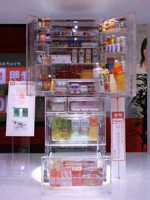 Şeffaf buzdolabı