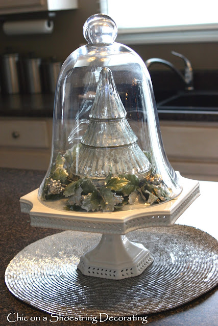 Chic On A Shoestring Decorating Christmas Cloches
